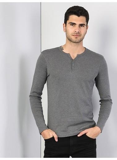 Colin's V Yaka T-Shirt Antrasit